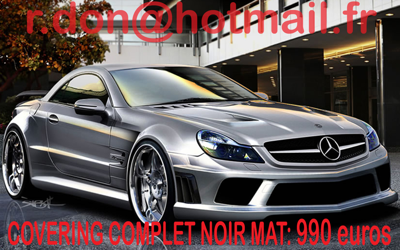 covering mercedes sl mercedes sl noir mat. Black Bedroom Furniture Sets. Home Design Ideas