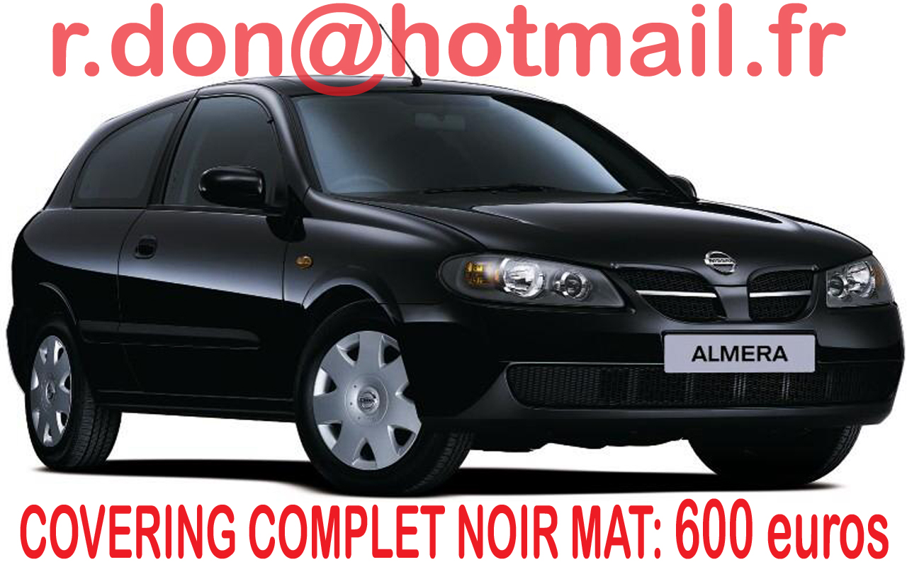 covering nissan almera nissan almera noir mat. Black Bedroom Furniture Sets. Home Design Ideas