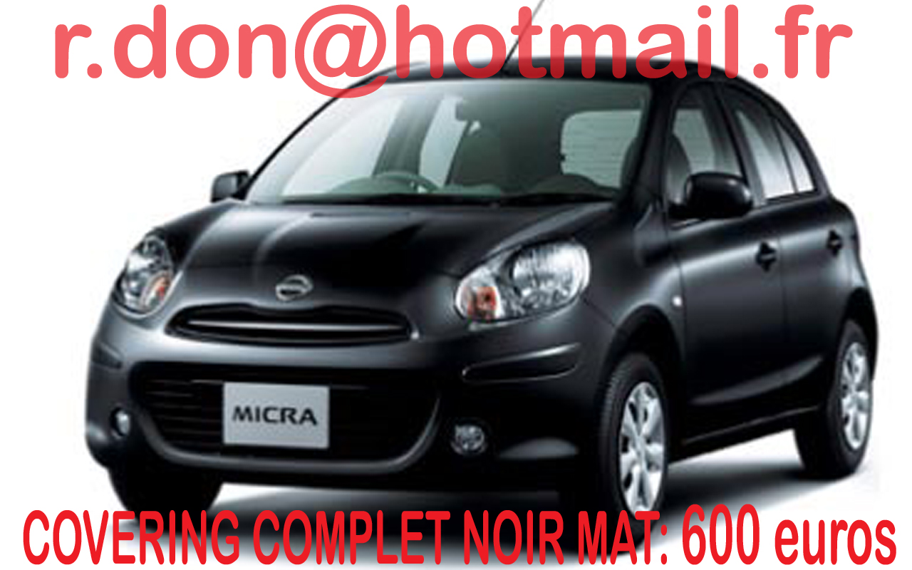 covering nissan micra nissan micra noir mat. Black Bedroom Furniture Sets. Home Design Ideas
