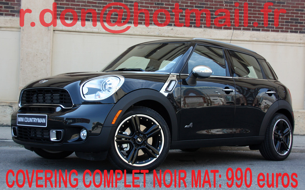 covering mini countryman mini countryman noir mat. Black Bedroom Furniture Sets. Home Design Ideas