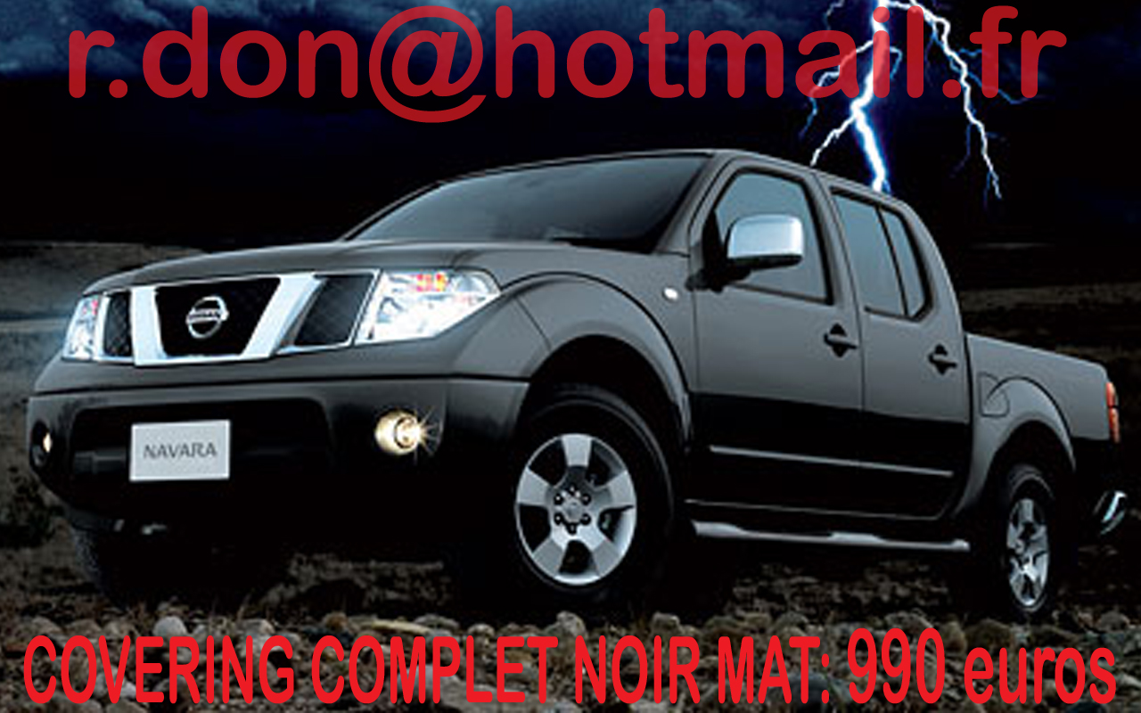 covering nissan navara nissan navara noir mat. Black Bedroom Furniture Sets. Home Design Ideas